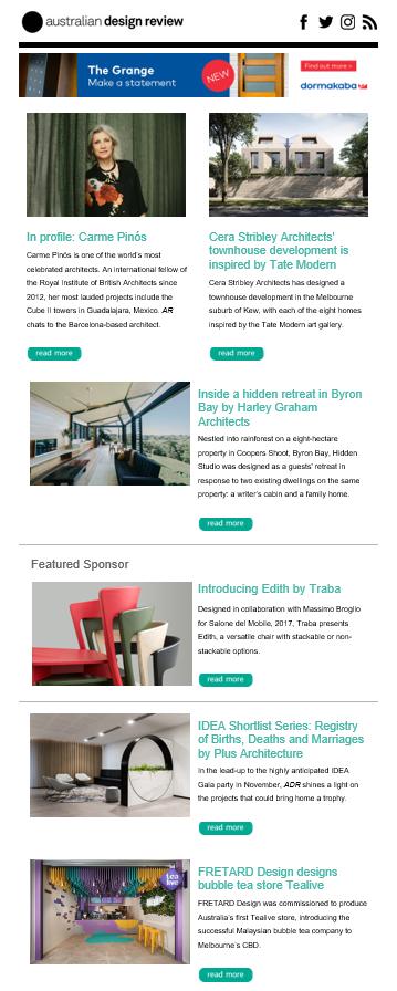 australian design review newsletter