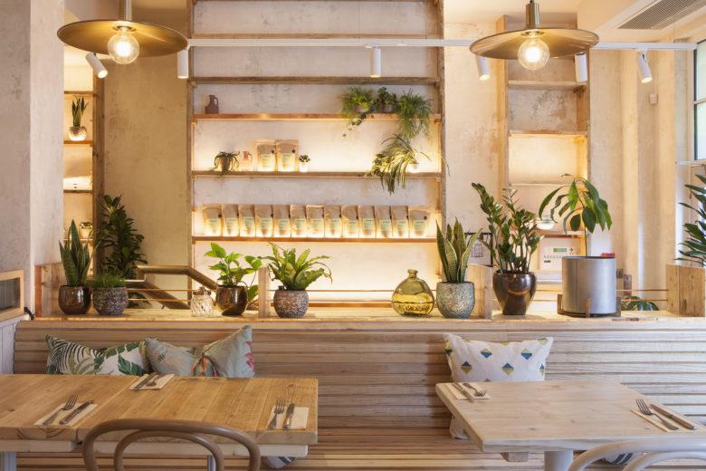 nice interior timber banquet seating